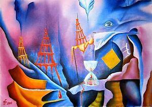 ORIGINAL Painting Oil Russian Art Pronkin surrealism modern ART Abstract Unique