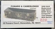 Funaro F&C 3090 DELAWARE & HUDSON  Seley Composite Twin Hopper D&H Sealy 1-PIECE