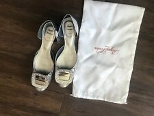 Roger Vivier crystal buckle flats 36.5 is 6.5