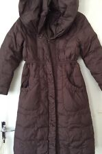 Used Girls Age 10-12 Years Long Brown Padded Winter Coat By Monsoon