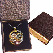 AURYN Never Ending Story Necklace Pendant Magic Gold Silver Box New Mother's Day