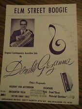 """ACCORDION SOLO SHEET MUSIC """"ELM STREET BOOGIE"""" BY DON GRZANNA"""