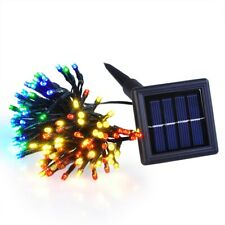 100 LED Solar String Lights Fairy Light Multi-color Christmas Party Garden Decor