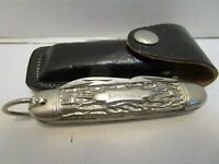 VINTAGE IMPERIAL KAMP KING POCKET KNIFE W/SHEATH