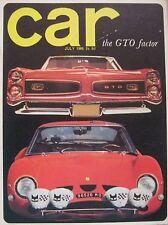 CAR 07/1966 featuring Ferrari, Pontiac, Fiat, Peugeot, Opel GT, Mini Moke