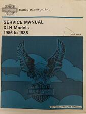 99484-88 HARLEY-DAVIDSON    USED 1986-88 SERVICE  MANUAL SPORTSTER  XLH MODELS