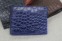 Double Side Genuine Blue Alligator Crocodile Leather Skin MEN'S BIFOLD Wallet