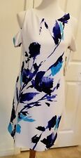 Lauren Ralph Lauren Cold Shoulder Mini Dress Polyester White Blue Black $155 8P