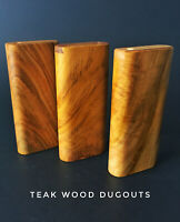 """4"""" Teak Wood Dugout with 3"""" One Hitter Bat-Perfect Gift"""