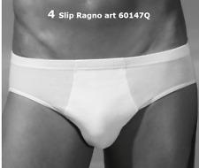 N° 4 slip uomo mutande cotone midi RAGNO SPORT 60147Q bianco nero grigio blu