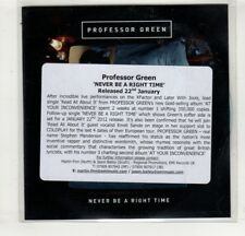 (HM294) Professor Green, Never Be A Right Time - 2011 DJ CD