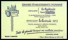 Buvard Publicitaire, LA CARDINALE liqueurs Geldis - Etablissements Lyonnais