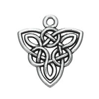 20pcs Celtic Knot Trinity Triquetra Charm for Jewelry Making Necklace Bracelet