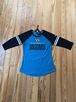 Jacksonville Jaguars Nike Teal/Black Sleeve Stripe 3/4 Sleeve Raglan T-Shirt