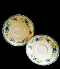 2 x c.1929 Vintage Copeland Spode Koro Pattern Saucers  | FREE Delivery UK*