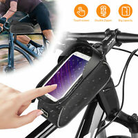 Waterproof Bicycle Cycling Bike Front Top Tube Frame Pouch Bag Phone Holder Case