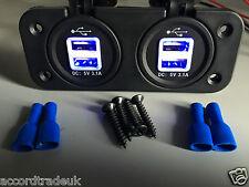 12V/24V Car Twin Dual USB Cigarette Lighter Socket Plug Charger Power Adapter UK