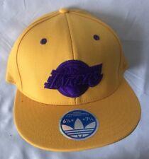 NBA Los Angels Lakers Flat Visor Flex Adidas Cap- 6 7/8-71/4 Yellow SM/MED