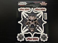 "(5.46"" x 5.67"") Lethal/Threat Spike Skull Cross Body Decal Emblem Logo Sticker"