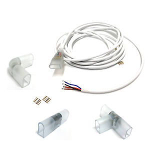 RGB Neon Flex 10x18mm 220V 240V Accessories 4pin T/ L/ Corner Straight Connector
