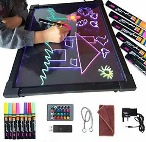 Sensory LED Message Writing Board 16''×12'' Illuminated Light Up Drawing Pain...