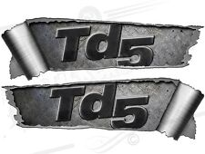 Pair Rolled back Ripped Metal Effect TD5 4 x 4 offroad Vinyl Car Stickers