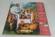 Mama's Cat Nap 1000 Piece Jigsaw Puzzle Art by Tom Wood, SunsOut 28615.