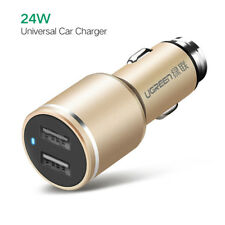 Ugreen Dual Port USB Car Charger 24w With 4.8a Power Supply Charging for iPad
