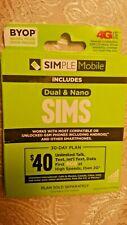 Simple Mobile Dual Cut Micro and Regular Sim Card