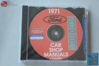 1971 Ford Passenger Car Shop Repair Manual CD Rom Disc PDF New
