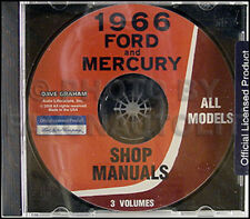 1966 Mercury Negozio Manuale CD Monterey Montclair Parklane Comet Caliente