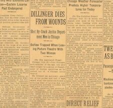 Dillinger Dead Shot by Justice Men in Chicago Outside Theatre July 23 1934  B20