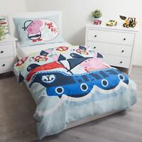 Peppa Pig George Ohé Set Housse de Couette Simple Européen Coton - 2 IN 1 Design