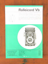 ROLLEI ROLLEICORD VB SALES SHEET/107082