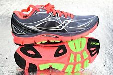 NEW Women's Saucony Mirage 5 Running Shoe Grey/ViziCoral/Green Size 5 S10267-2
