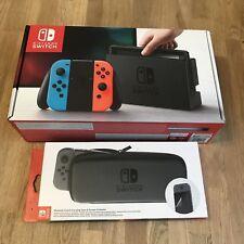 COMPLETO Nintendo Switch console con NEON ROSSO-CW Custodia Nuovo di Zecca