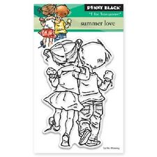 PENNY BLACK RUBBER STAMPS CLEAR SUMMER LOVE NEW STAMP SET 2015