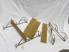 Pair of Vintage, Retro, Mid Century Modern Gold Metal Wall Shelves