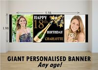 Personalised GIANT Large Happy Birthday Banner 18th 21st 30th 40th 50th N66