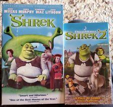 Shrek Special Edition & Shrek 2 lot Vhs