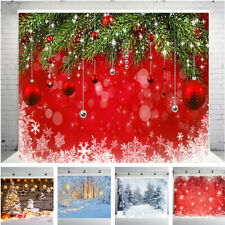 Christmas Photo Photography Props Background Cloth Vinyl Backdrop Studio New UK