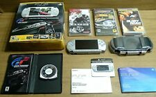 2Gb Silver Sony Psp 3001 Console & Gran Turismo Video Game Lot