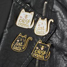 Creative Lovely Cartoon Dog Cat Dog Mom Cat Lady Enamel Brooch Pins Badge Gifts