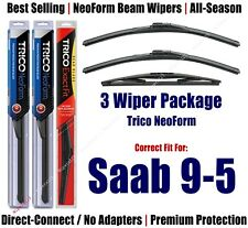 3-Pack Wipers Front & Rear NeoForm - fit 2001-2005 Saab 9-5 - 16220x2/14D