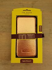 Ted Baker Rose Gold Faux Leather Folio Mirror Case for iPhone X, BNIB