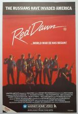 Original A2 Rolled 1980s RED DAWN 1980s WB Video Shop Film Poster  Patric Swayze