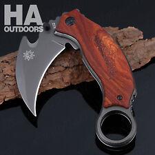 Survival Rescue Saber Hunting Camping Tools Claw Karambit Pocket Folding Knife