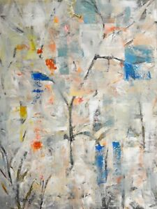 "Large Original Acrylic Painting on Canvas Abstract Art. by Hunoz 33"" x 43"""