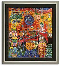 Bild Kunstdruck Friedensreich Hundertwasser 30 Tage Fax mit Rahmen -40% SALE