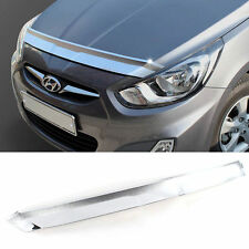 Chrome Bonnet Hood Guard Garnish K896 For HYUNDAI 2011-2017 Solaris Accent Verna